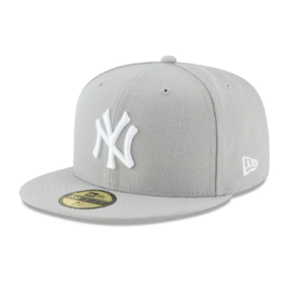 d67d3d32 New Era Accessories | Nwot New York Yankees Gray 59fifty Fitted Hat ...